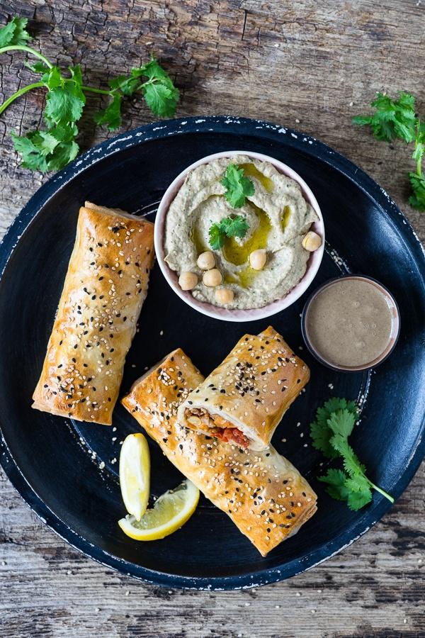 Rezept Orientalische Veggie-Strudel mit Baba Ghanoush