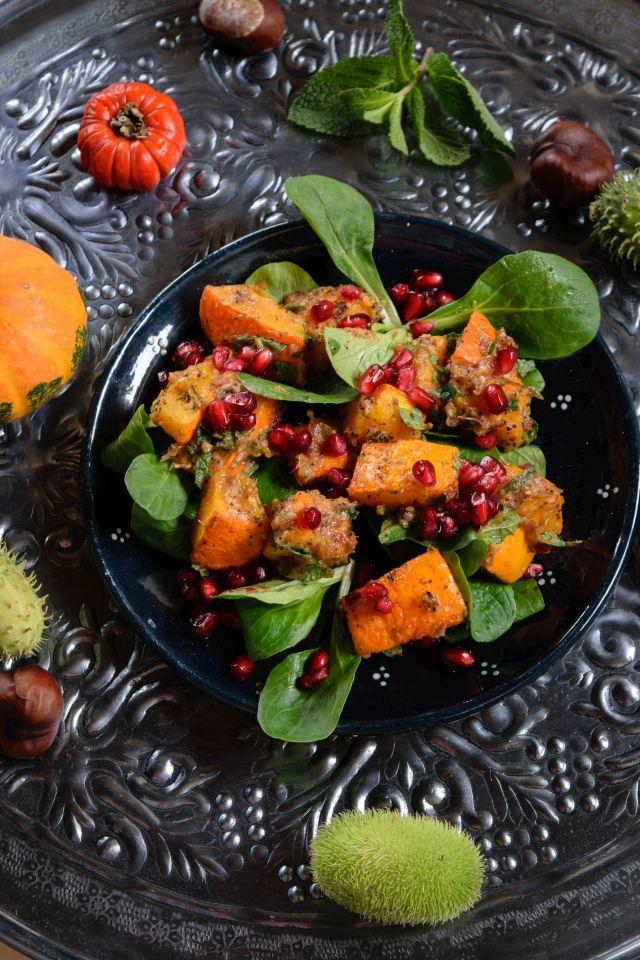 Rezept Orientalischer Ofenkürbis auf Feldsalat