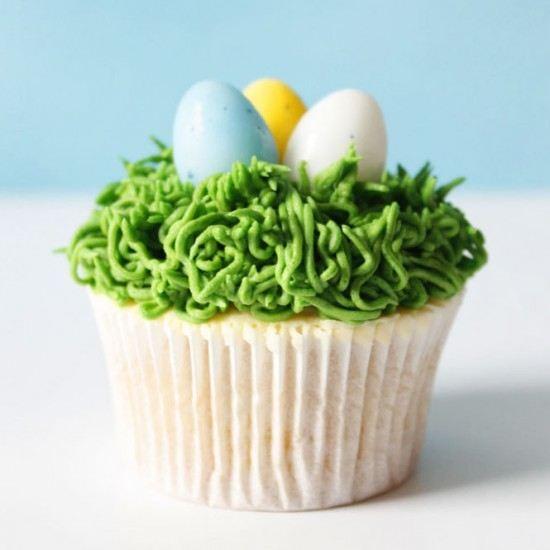 Rezept Oster Dessert Idee: Osternest Cupcakes mit Ostereiern