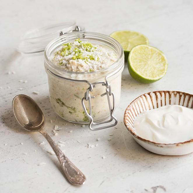 Rezept Overnight Oats mit Limette und Kokos