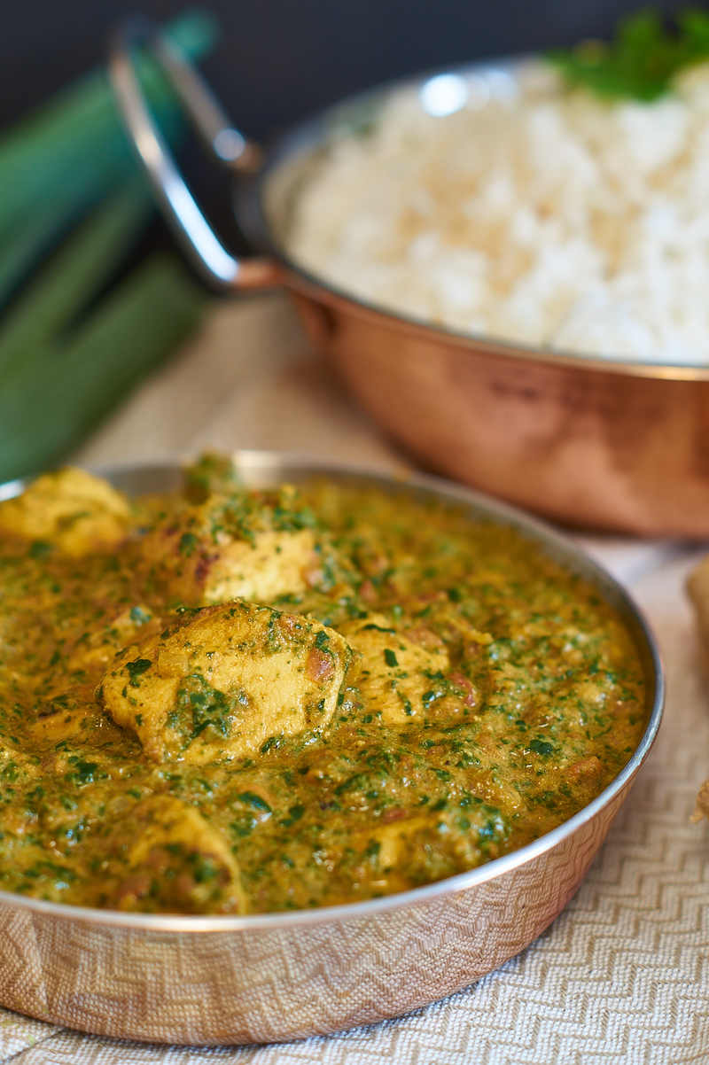 Rezept Palak Chicken | Indisches Curry mit Spinat und Hühnchen