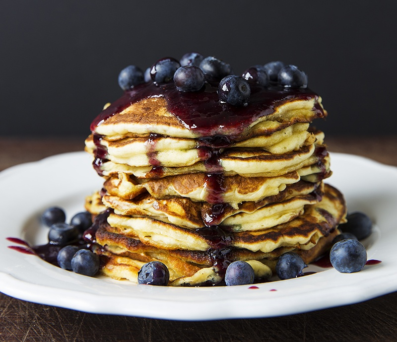 Rezept Pancakes mit Heidelbeer-Limetten-Honig