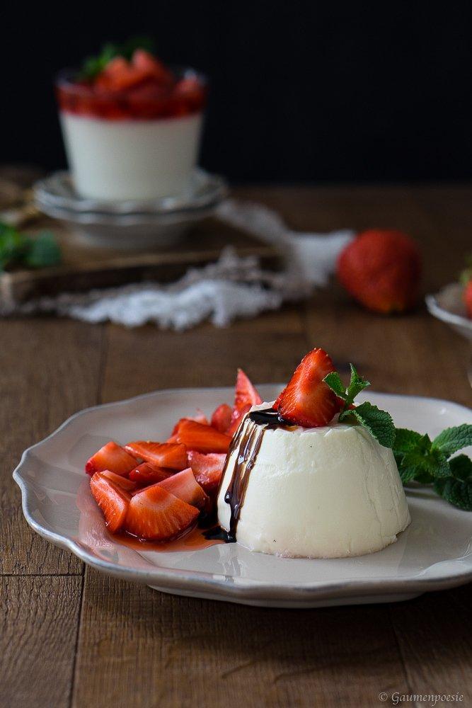 Rezept Panna Cotta mit Erdbeeren