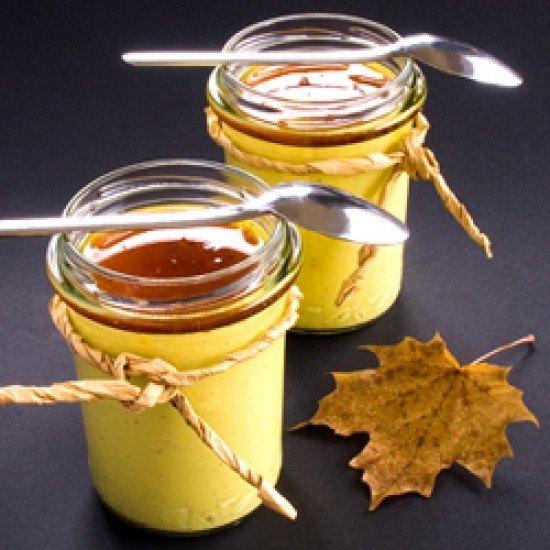 Rezept Panna cotta mit Safran und Ahornsirup