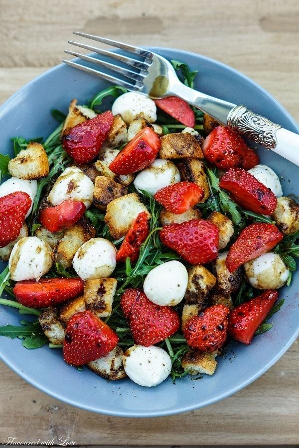 Rezept Panzanella mit Erdbeeren