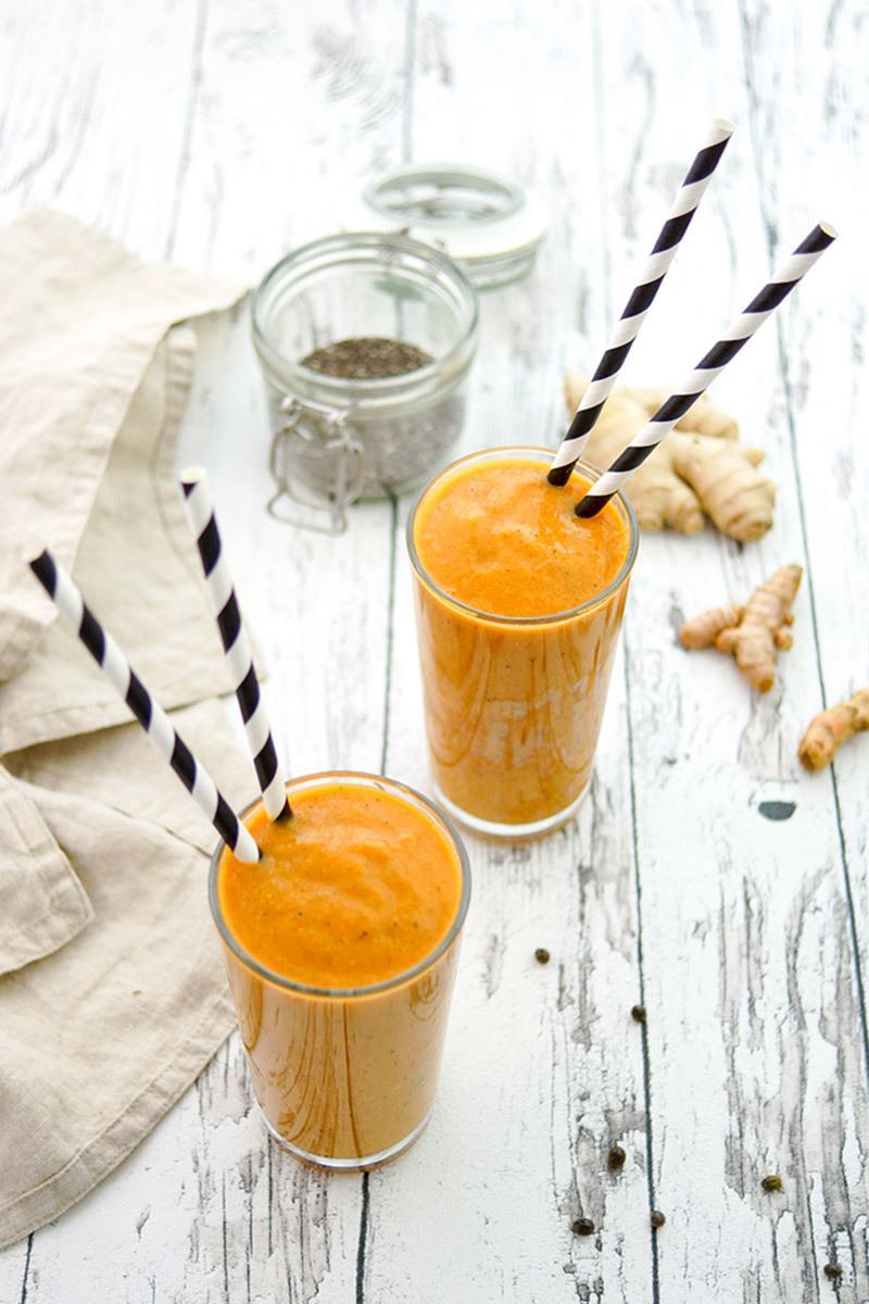 Rezept Papaya Smoothie mit Kurkuma
