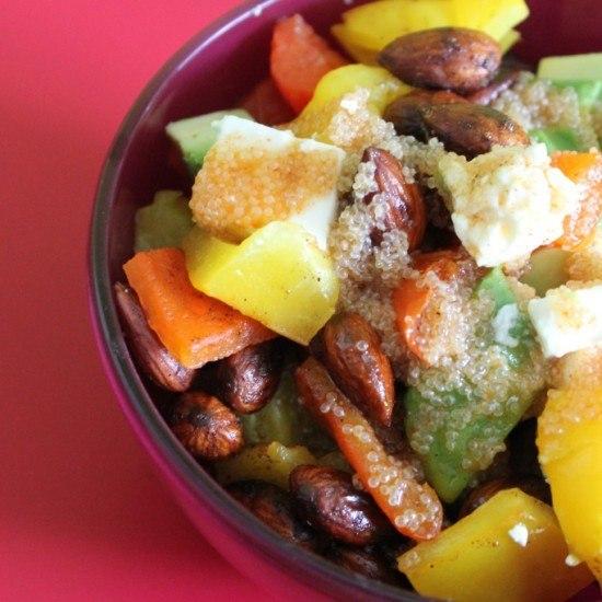 Rezept Paprika-Avocado-Feta-Salat