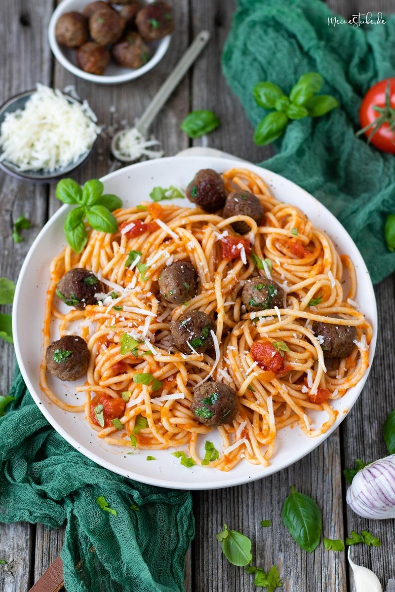 Rezept Parmesan-Hackbällchen Spaghetti Pasta