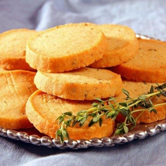 Rezept Parmesan und Thymian Cracker