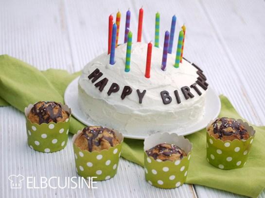 Rezept Party mit vielen Gästen – White-Brownie-Torte und Muffins in einem!