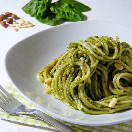 Rezept Pasta con pesto di spinaci