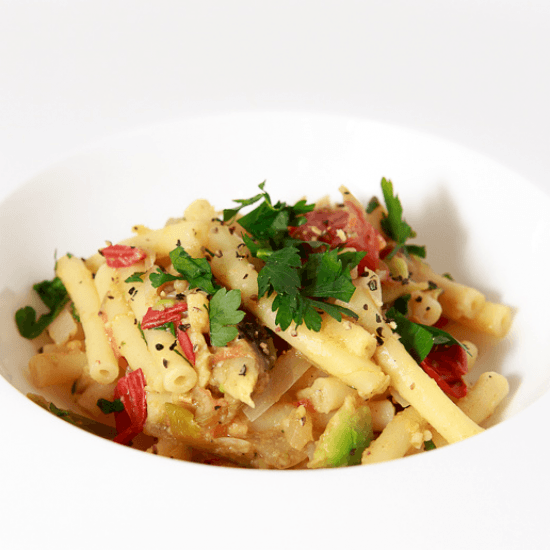 Rezept Pasta mit Avocado-Tomaten-Sauce