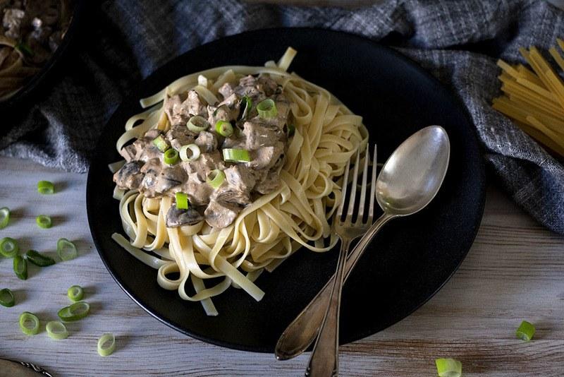 Rezept Pasta mit der cremigsten Champignonsauce aller Zeiten