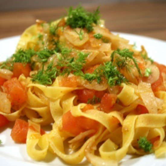 Rezept Pasta mit Fenchel und Tomaten