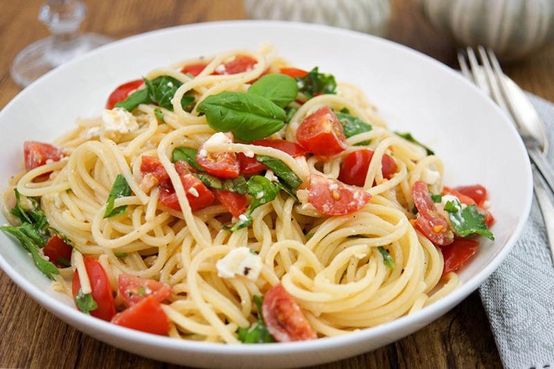 Rezept Pasta mit Feta und Basilikum