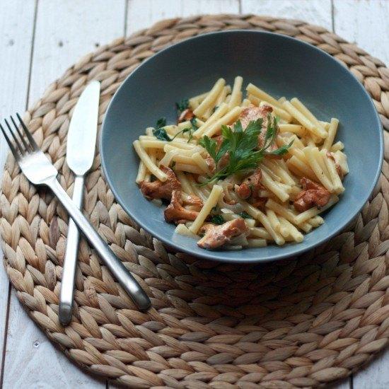 Rezept Pasta mit frischen Pfifferlingen