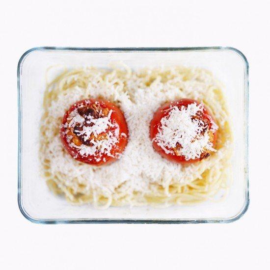 Rezept Pasta mit gefüllten Tomaten