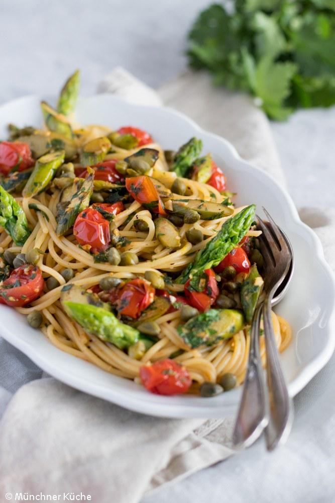 Rezept Pasta mit grünem Spargel und Gremolata