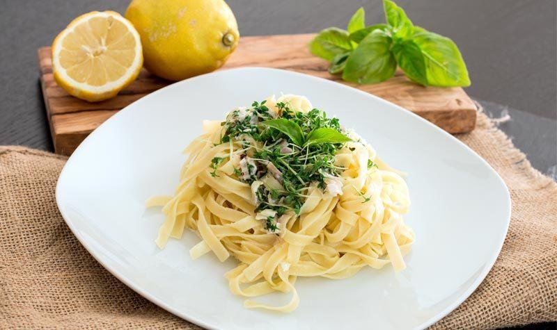Rezept Pasta mit Kresse-Sahnesauce