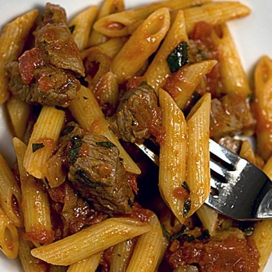 Rezept Pasta mit Lamm-Minz-Tomaten-Sugo