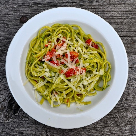 Rezept Pasta mit Petersilienpesto