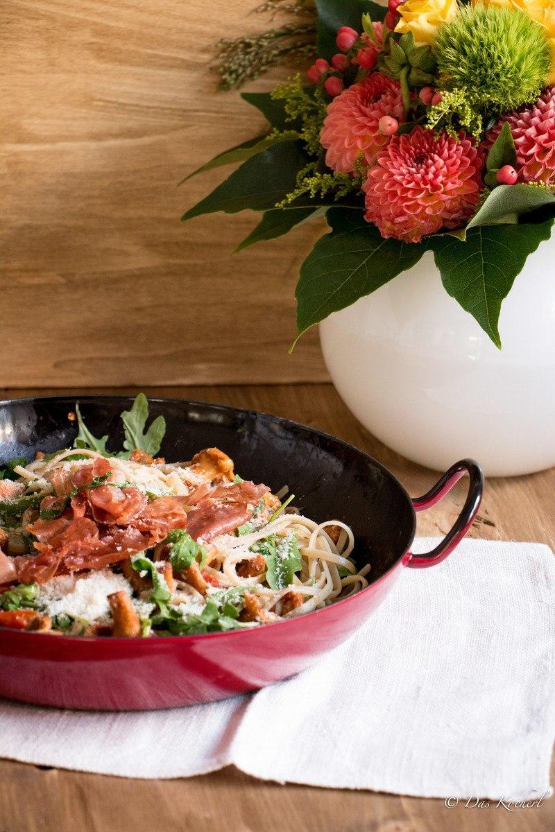 Rezept Pasta mit Pfifferlingen