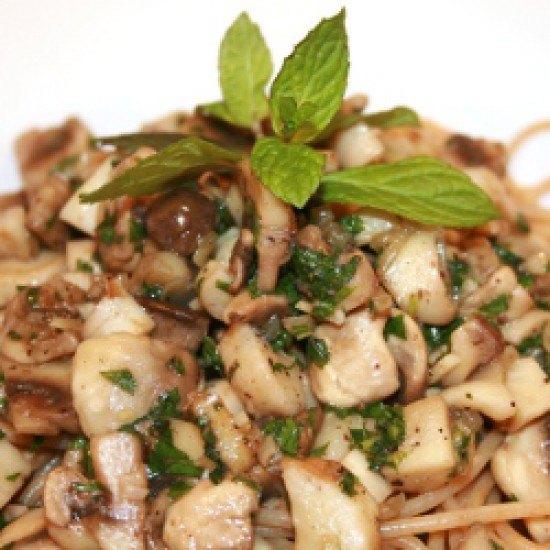 Rezept Pasta mit Pilzen und Minze