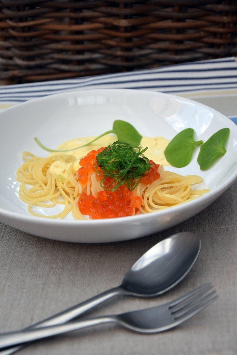 Rezept Pasta mit Safransauce und Keta Caviar