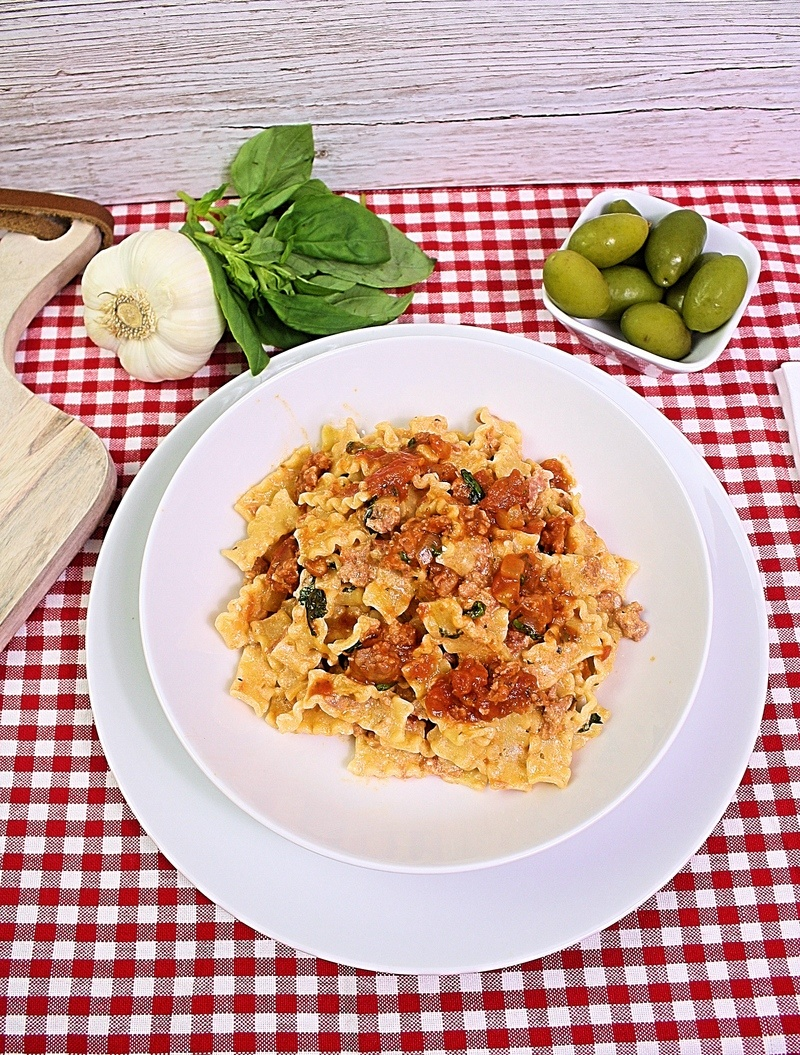 Rezept Pasta mit Salciccia, Ricotta und Tomaten