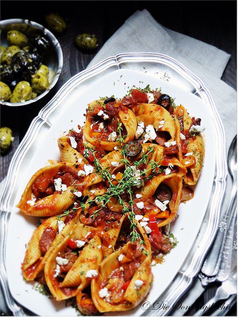 Rezept  Pasta Muscheln Mediteran