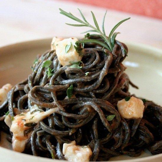 Rezept Pasta schwarz und weiß