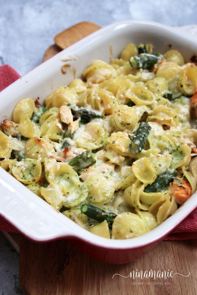 Rezept Pasta-Spargel-Auflauf mit Stremellachs