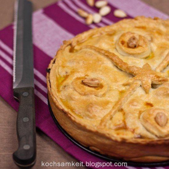 Rezept Pastete mit Portwein-Feigen, gebrannten Mandeln und Ziegenkäse