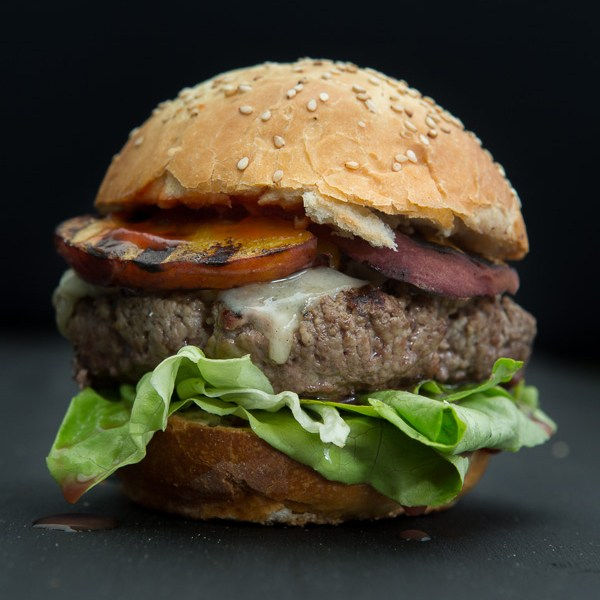 Rezept Peaches Burger