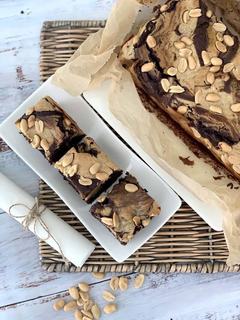 Rezept Peanut Butter Chocolate Brownies (Erdnuss-Schoko-Schnitten)