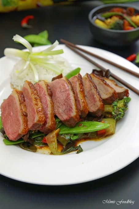 Rezept Pekingente mit Asia-Gemüse