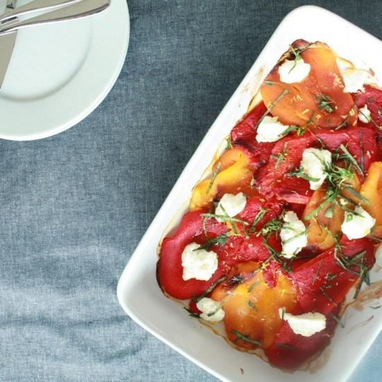 Rezept Peperoni aus dem Ofen mit Ricotta