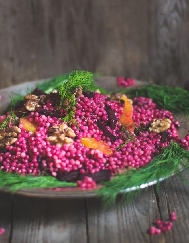 Rezept Perl Couscous mit Rote Bete, Walnuss und Orange
