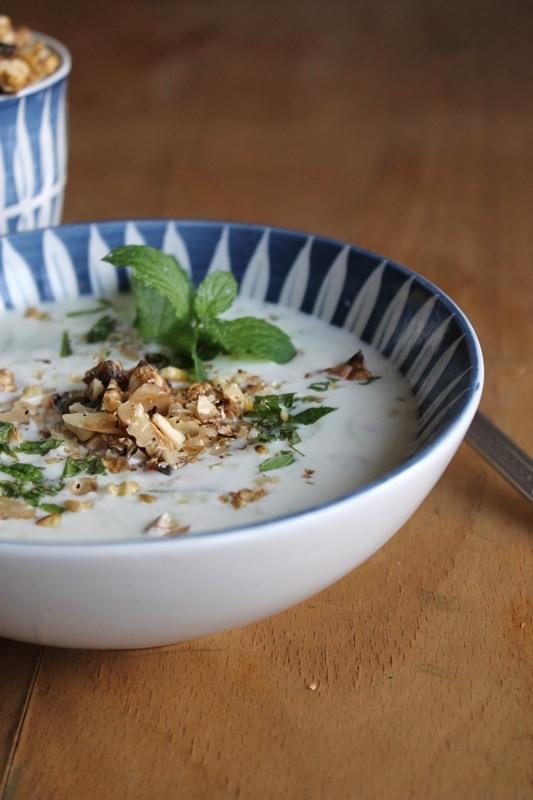 Rezept Persische Joghurtsuppe mit Gurken