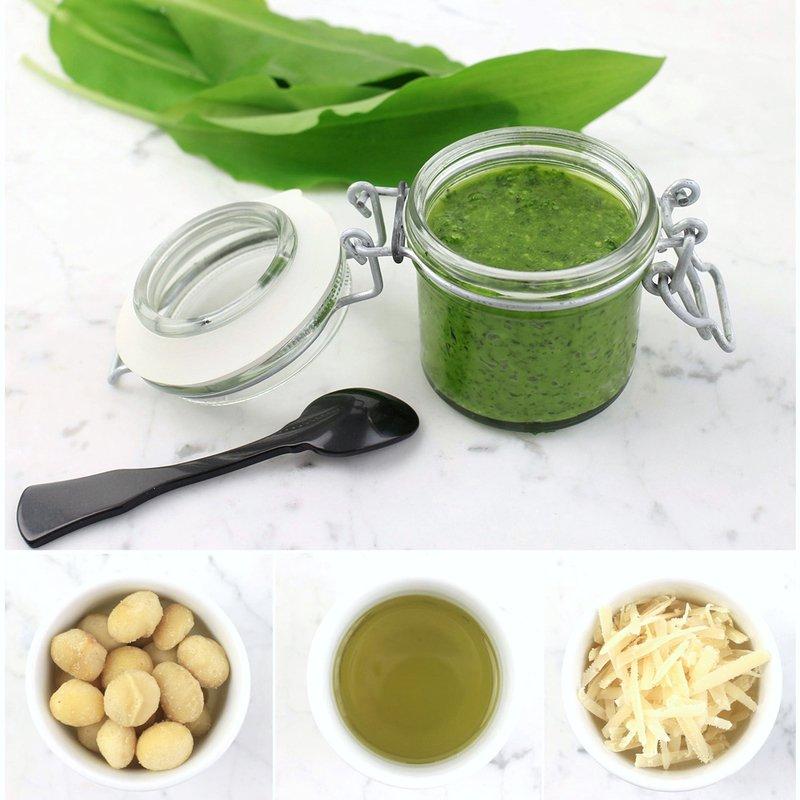 Rezept Pesto: Bärlauch Macadamia