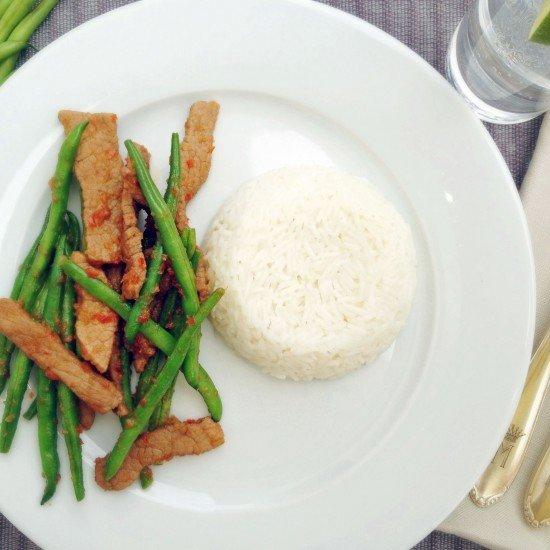 Rezept Pfannengerührtes Rindfleisch mit Chilipaste