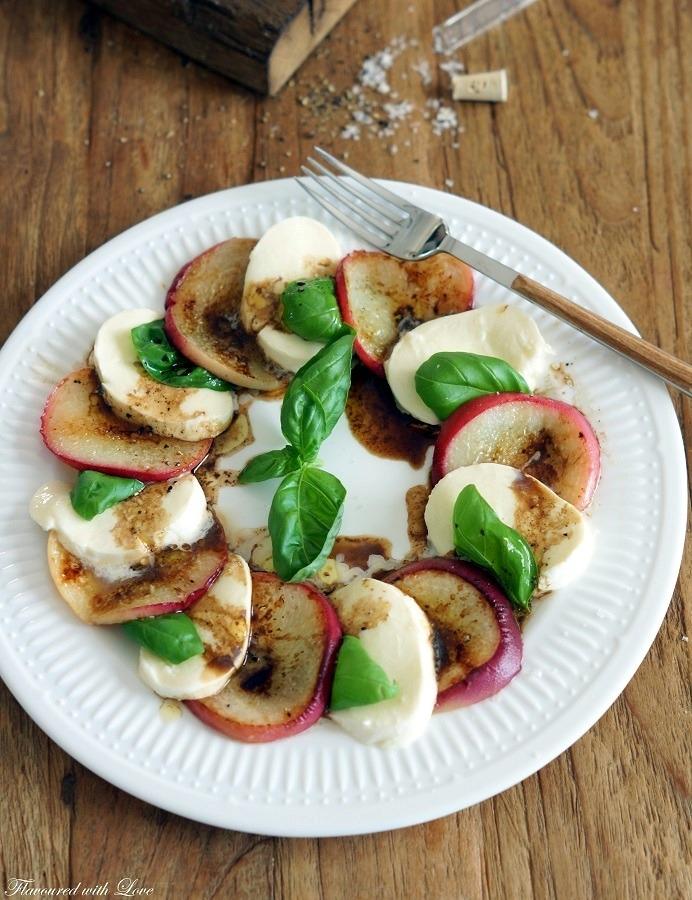Rezept Pfirsich-Caprese-Salat
