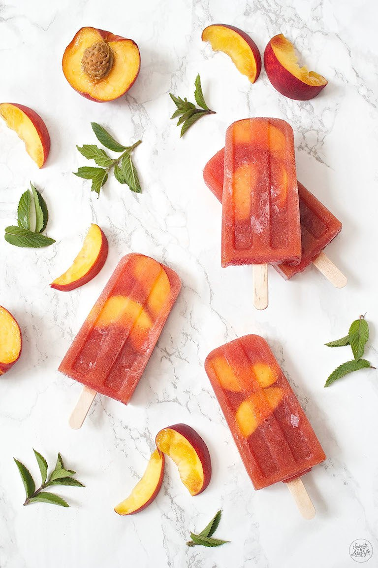 Rezept Pfirsich Eistee Popsicles