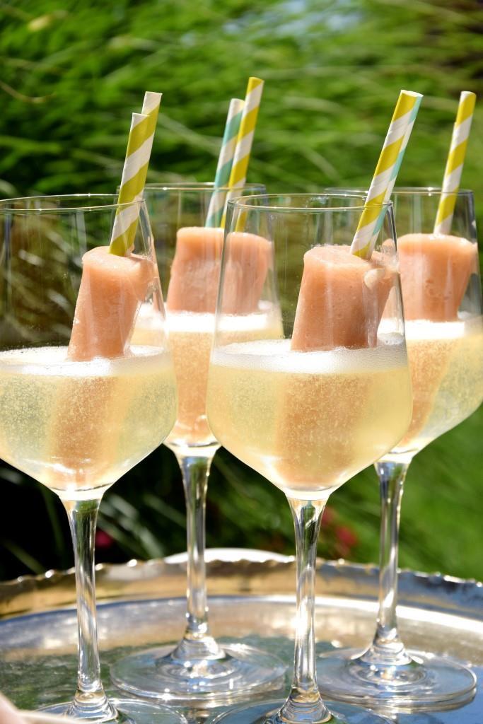 Rezept Pfirsich-Popsicles in Prosecco - so schmeckt der Sommer!