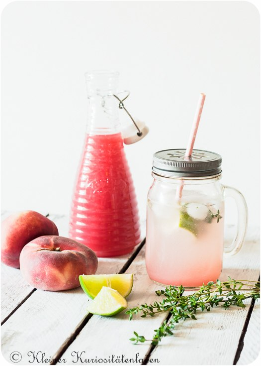 Rezept Pfirsich-Thymian-Sirup & Eistee