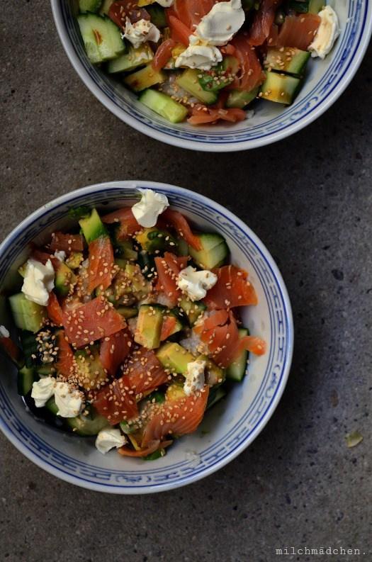 Rezept Philadelphia Roll Sushi Bowl