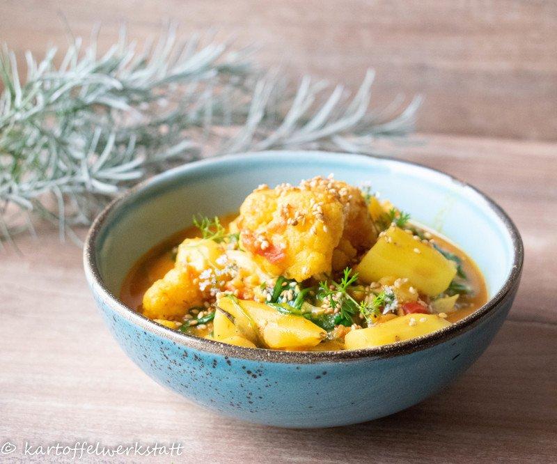 Rezept Pikantes Kartoffel-Blumenkohlcurry
