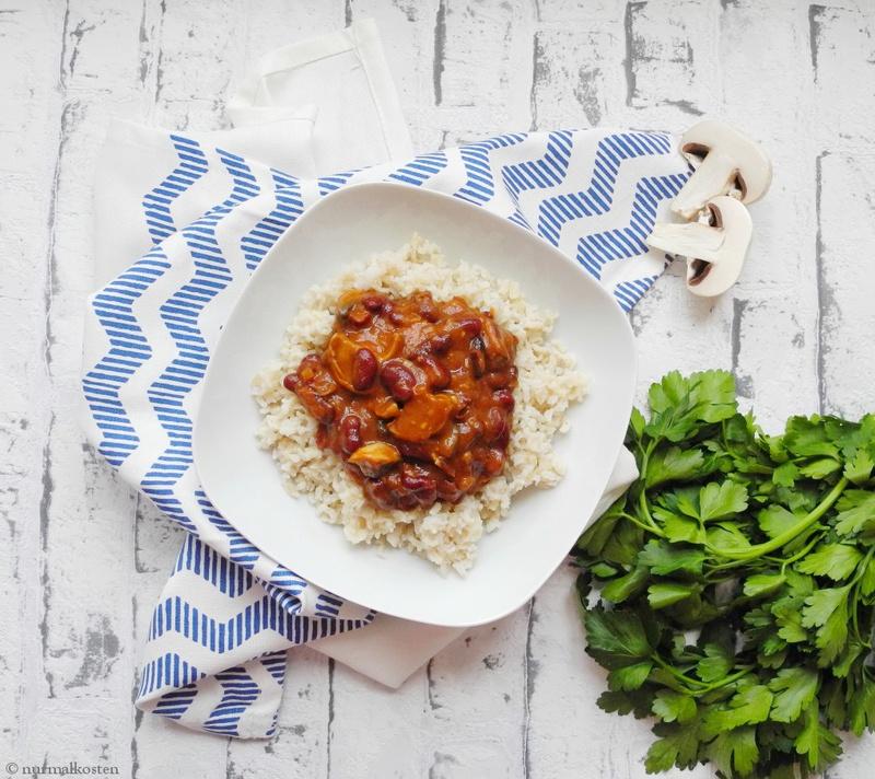 Rezept Pilz Bohnen-Eintopf a la Chili Sin Carne