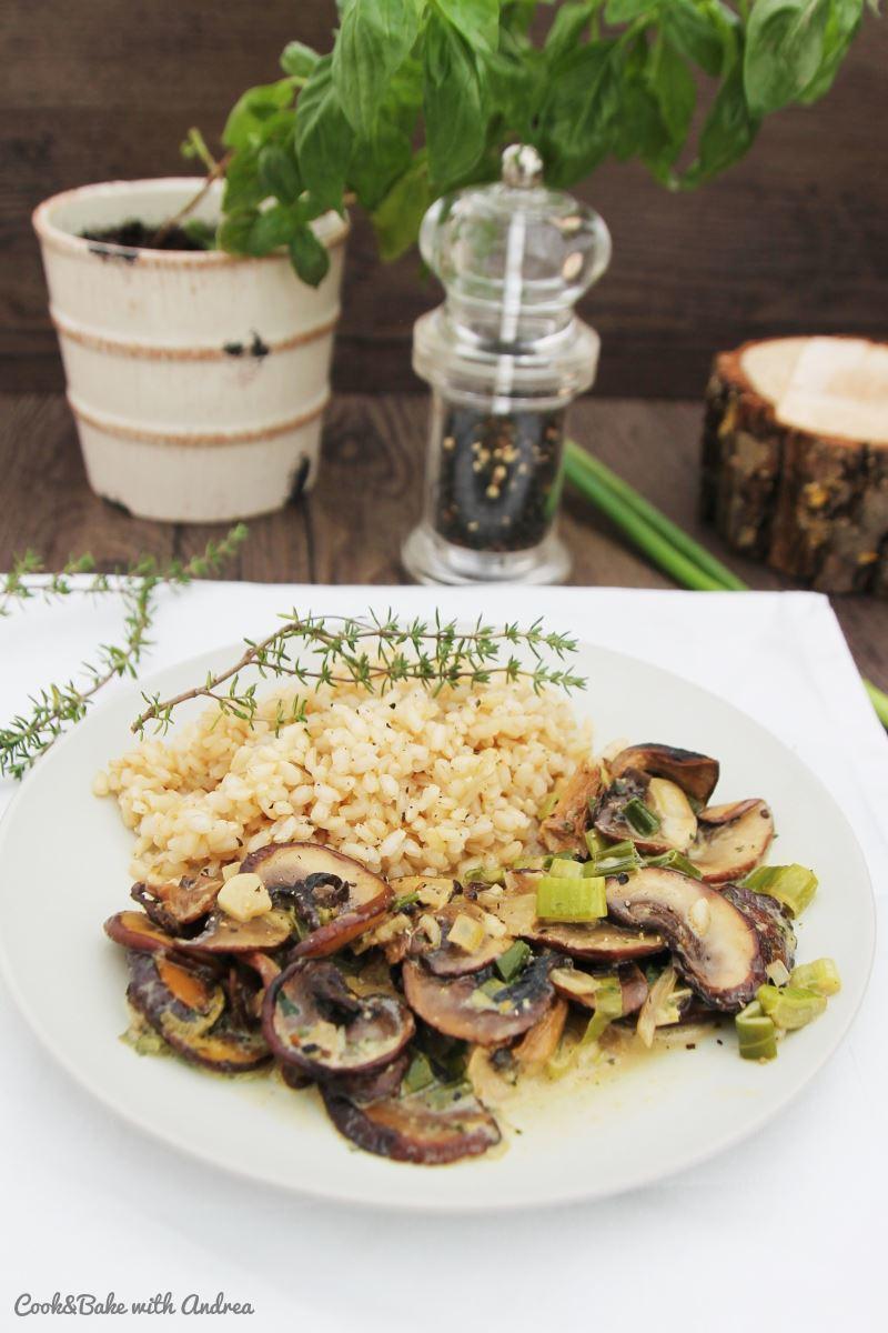Rezept Pilz-Pfanne mit Naturreis
