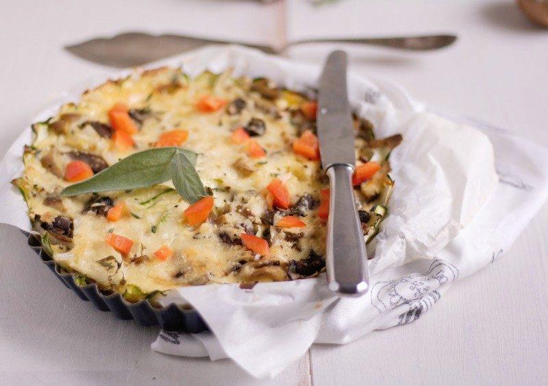 Rezept Pilz-Zucchini-Auflauf